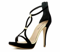 Damen Sandalette gold / schwarz