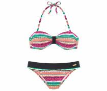 Bandeau-Bikini mischfarben