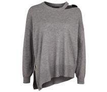 Pullover graumeliert / schwarz