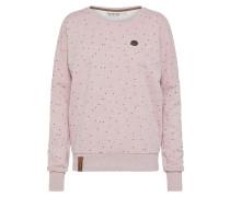 Sweatshirt pinkmeliert / schwarz
