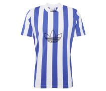 Shirt 'ES Ply' blau / weiß