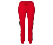 Sweatpants rot / schwarz / weiß