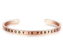 Armreif mit Nobody IS PERFECT-Schriftzug