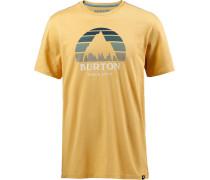 'underhill' T-Shirt senf / grau
