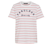 Jerseyshirt 'kita' rot / weiß