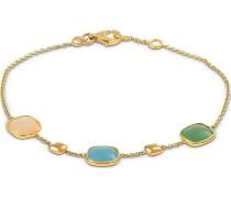 Armband himmelblau / gold / apfel / apricot