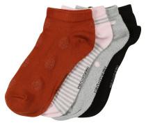 Socken '4P Trainerliner Dot lurex' mischfarben