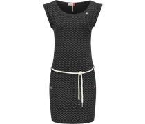 Jerseykleid ' Tag Zig Zag ' schwarz