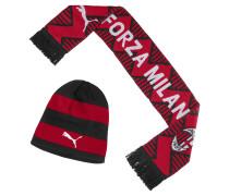 Beanie und Schal 'AC Milan'