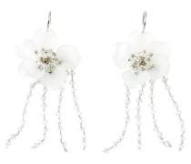 Ohrhänger mit 3D-Blüte silber