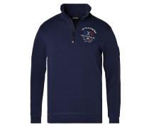 Sweatshirt Headway Halfzip Sweater blau