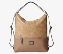 Handtasche beige / silber
