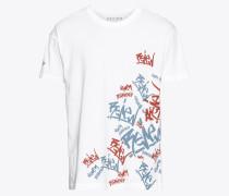 T-Shirt 'RN Aop' mischfarben / weiß