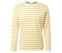 Langarmshirt gelb / weiß