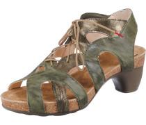 Sandalette 'Traudi' khaki / bronze