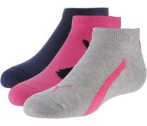 Socken dunkelblau / grau / dunkelpink