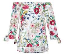 Off-Shoulder-Bluse in A-Linie mischfarben