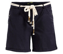 Shorts 'kiki' dunkelblau / weiß