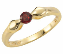Fingerring gold / rubinrot