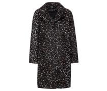 Mantel braun / schwarz / weiß