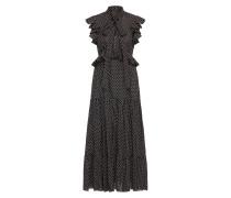 Kleid mit Tupfenprint und Volants