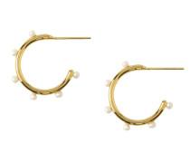 Ohrringe 'Pearl Bead Station Hoops ' gold