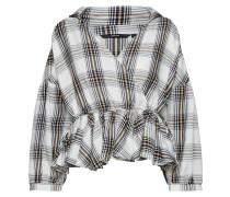 Bluse goldgelb / grau / schwarz / weiß