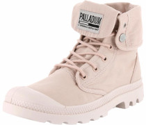 Schnürstiefelette 'Baggy Army' rosa