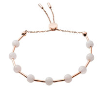 Armband 'Anette' rosegold / weiß