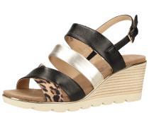 Sandale silber / schwarz / braun