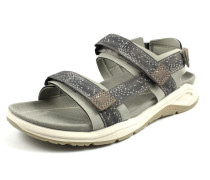 Sandale greige / dunkelgrau / weiß