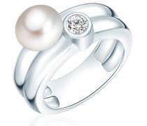 Ring silber / perlweiß
