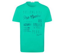 T-Shirt 'Taylor' dunkelblau / grün