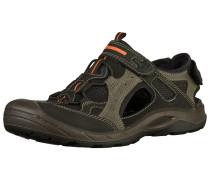 Sandalen grau / orange / schwarz