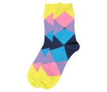 Socken 'Bonnie' blau / gelb / pink