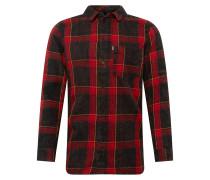 Hemd 'Laurent' rot / schwarz