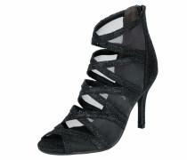 Sandalette mit Mesh-Einsätzen schwarz
