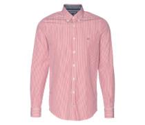 Gestreiftes Hemd 'Francky' rot / weiß