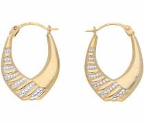 Paar Creolen gold / silber