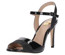 Peep Toe-Sandalette schwarz