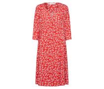 Kleid 'Daisy' weiß / rot