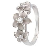 Ring mit Zirkonia »Blüte« silber