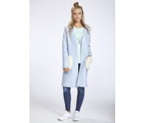 Mantel blau / hellblau / wollweiß