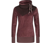 Sweatshirt 'Viola Velvet' rot / burgunder