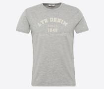 T-Shirt 'zorabo T/s' graumeliert / weiß