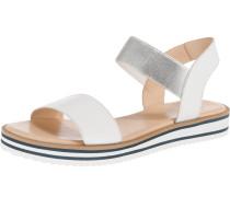 Sandalen 'Durban' silber / weiß
