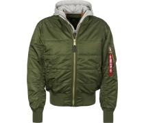 Jacke grau / grün
