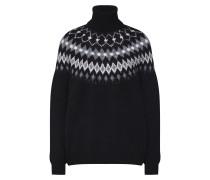 Pullover 'Lania Norway' schwarz / weiß