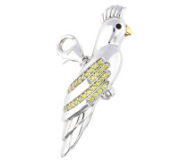 Charm 'Parrot' gelb / silber