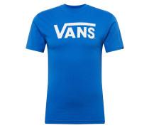 T-Shirt 'Classic' blau / weiß